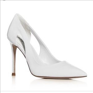 Jeffery Campbell Alure White Patent Leather Stiletto Pumps NWT